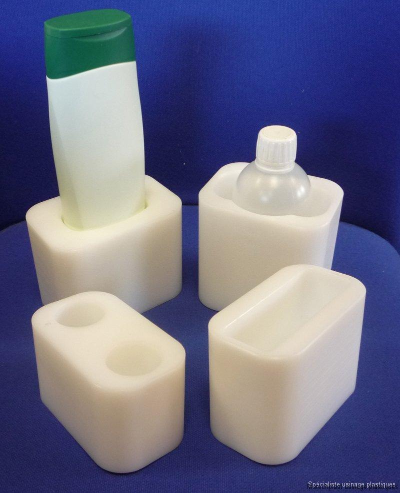 Cosmétique et pharmaceutique : Godets porte-flacon