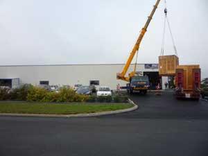 livraison nouveau centre usinage CN chez Matechplast