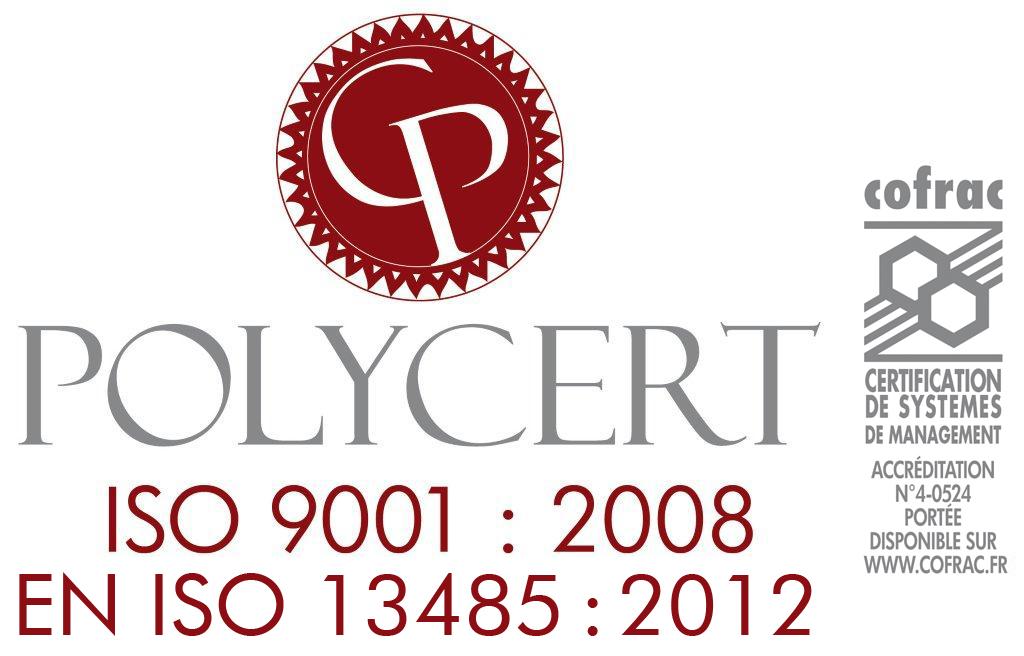 polycert-cofrac 9001.2008 +13485.2012