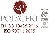 polycert-cofrac 9001.2015 et 13485.2016
